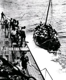 U-506 (Erich Wurdeman) joins in the rescue